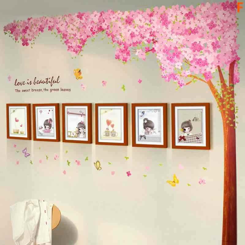 6er Set Bilderrahmen Wand Romantisch aus Holz