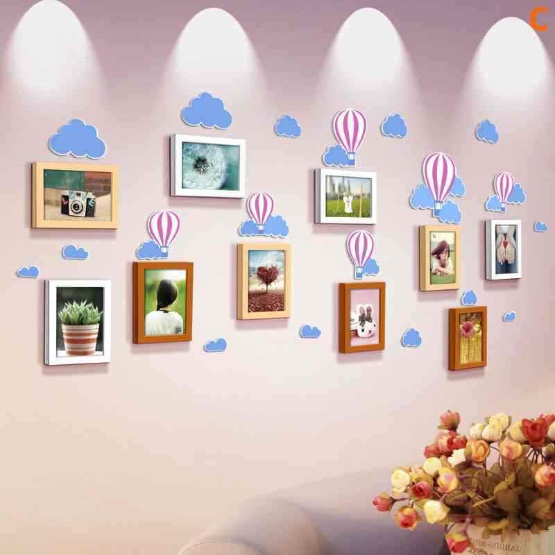 Moderne Bilderrahmen Wand 10er Set aus Holz