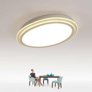 Led Deckenleuchte Modern Oval Design im Lesezimmer