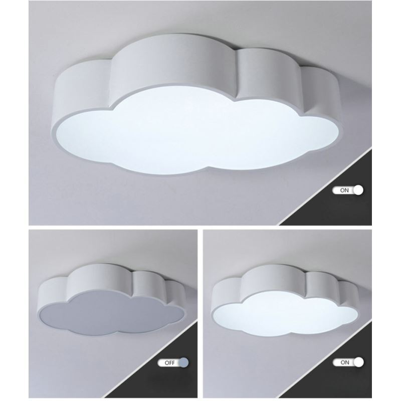 moderne deckenleuchte led wolke design im kinderzimmer. Black Bedroom Furniture Sets. Home Design Ideas