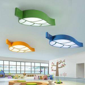 Moderne Deckenleuchte Led Blatt Design im Kinderzimmer