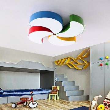 moderne deckenleuchte led mondsichel design im kinderzimmer. Black Bedroom Furniture Sets. Home Design Ideas