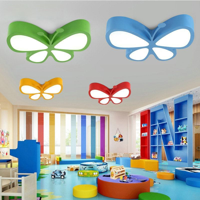 moderne deckenleuchte led schmetterling design im kinderzimmer. Black Bedroom Furniture Sets. Home Design Ideas