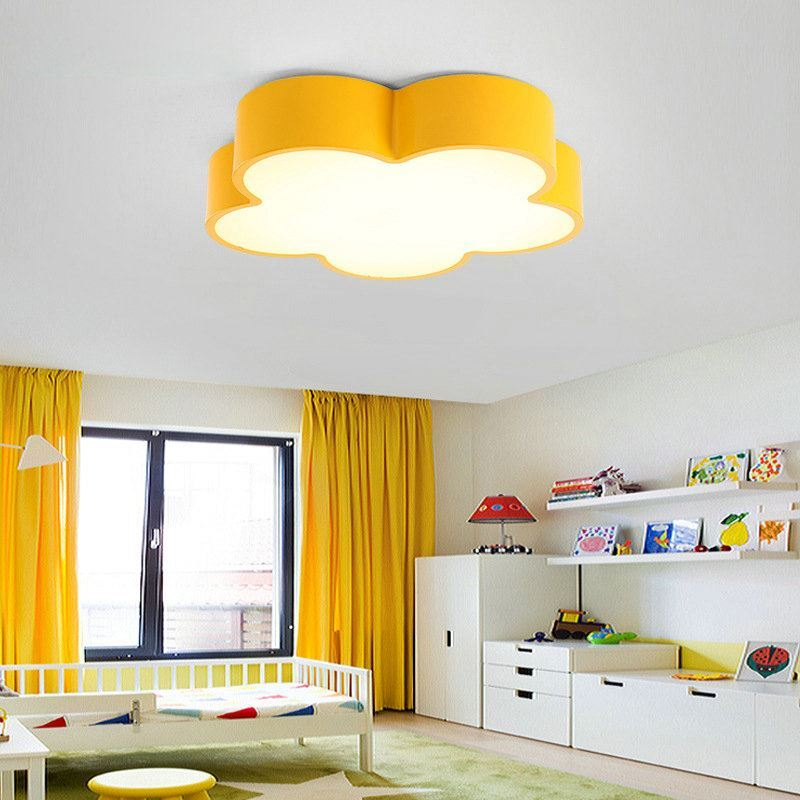 led deckenleuchte modern blume design im kinderzimmer. Black Bedroom Furniture Sets. Home Design Ideas