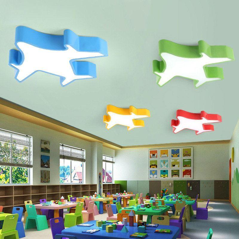 Led deckenleuchte modern flugzeug design im kinderzimmer - Led deckenleuchte kinderzimmer ...