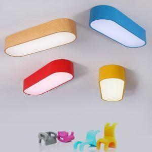 Moderne Deckenleuchte Led Ellipse Design im Kinderzimmer
