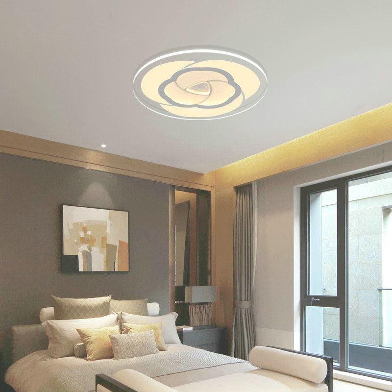 led deckenleuchte modern rose design im schlafzimmer. Black Bedroom Furniture Sets. Home Design Ideas