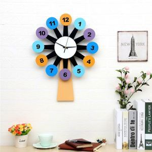 Moderne Wanduhr Windmühle Design im Wohnzimmer Kinderzimmer