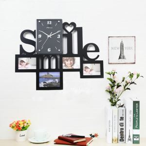 Wanduhr Smile Design im Wohnzimmer Kinderzimmer