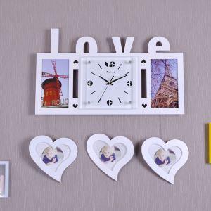 Moderne Wanduhr LOVE Herzform Design im Wohnzimmer Kinderzimmer