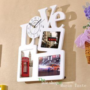 Moderne Wanduhr LOVE Design im Kinderzimmer Wohnzimmer