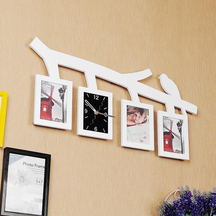 Moderne Wanduhr Zweig Vogel Design im Wohnzimmer Kinderzimmer mit ...