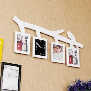Moderne Wanduhr Zweig Vogel Design im Wohnzimmer Kinderzimmer mit Bilderrahmen
