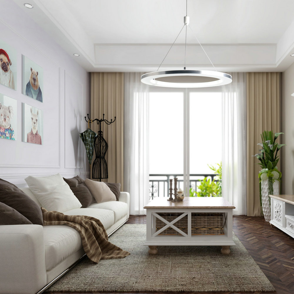 Moderne LED Pendelleuchte Ring Kreative im Wohnzimmer Schlafzimmer