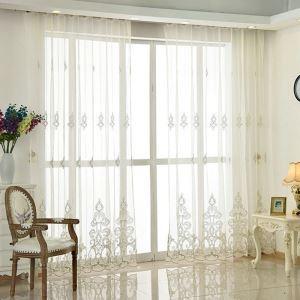 Europäische Stil Gardine Stickerei Design im Wohnzimmer (1er Pack)