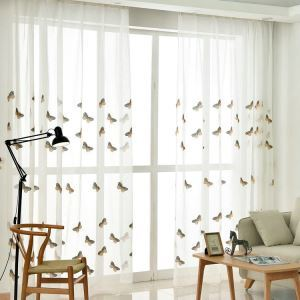 Moderne Gardine Schmetterling Design im Wohnzimmer (1er Pack)