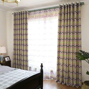 Moderner Vorhang Streife Design aus Polyester im Wohnzimmer (1er Pack)