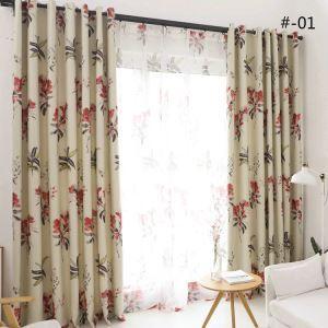 Vorhang Floral Design aus Polyester im Wohnzimmer (1er Pack)