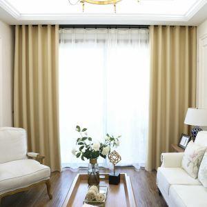 Moderner Vorhang Unifarbe aus Polyester im Wohnzimmer (1er Pack)