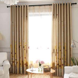 Moderner Vorhang Cartoon Giraffe Design aus Polyester im Schlafzimmer (1er Pack)