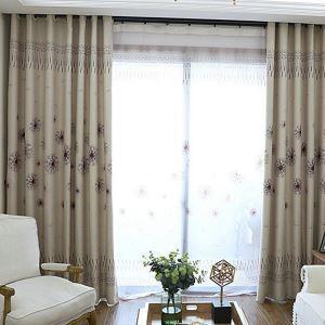 Vorhang Pusteblume Design aus Polyester (1er Pack)