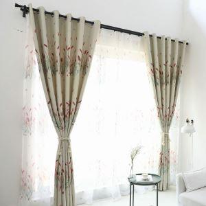 Vorhang Ähre Design aus Polyester im Wohnzimmer (1er Pack)