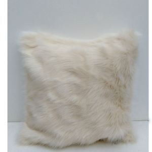 (EU Lager)Dekokissenbezug Fellimitat Plüsch Sofa Kissenbezug Weiß