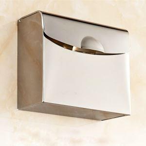 Toilettenpapierhalter Chrom aus Edelstahl im Badezimmer
