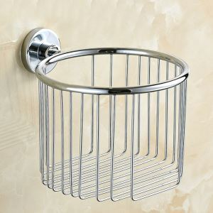 WC-Rollenhalter Bad aus Edelstahl Chrom
