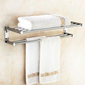 Handtuchhalter Doppelt aus Messing Chrom im Badezimmer