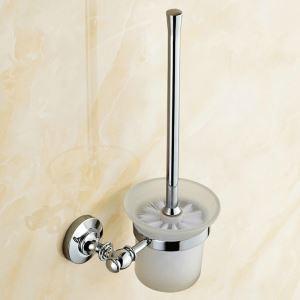 WC Bürstenhalter Bad aus Kupfer Chrom