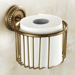 WC Papierrollenhalter Antik Messing im Badezimmer