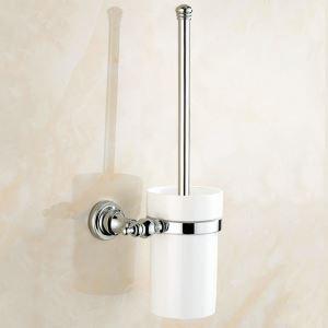 WC Bürstenhalter Bad aus Messing Chrom Wandmontage