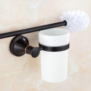 Toiletten Bürstenhalter Bad aus Messing Schwarz