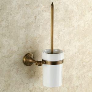 WC Bürstenhalter Bad Antik Messing Wandmontage