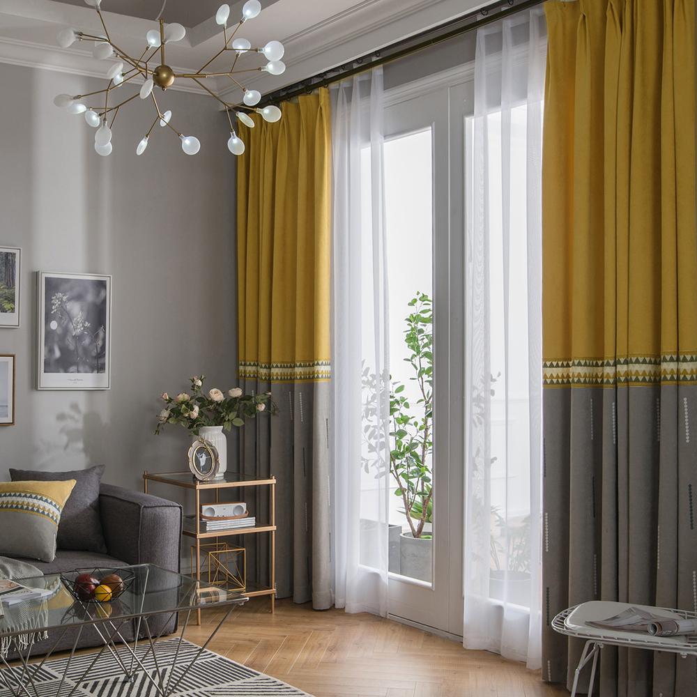 Neuer Vorhang Minimalismus Stil Unifarbe im Wohnzimmer