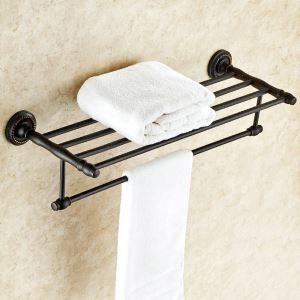 Handtuchhalter Bad aus Messing Schwarz Badzubehör