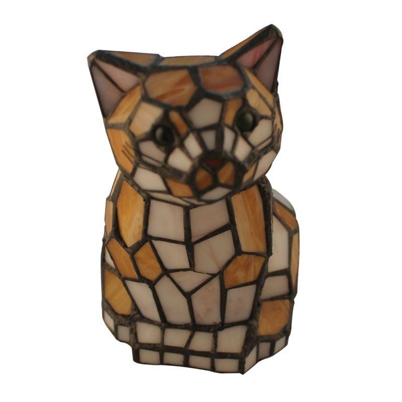 Tiffany Tischleuchte Nachtlicht Katzen Design Im Schlafzimmer