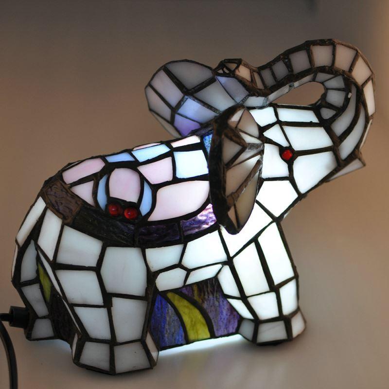 Tiffany tischlampe nachtlicht elefanten design im schlafzimmer - Schlafzimmer tischlampe ...