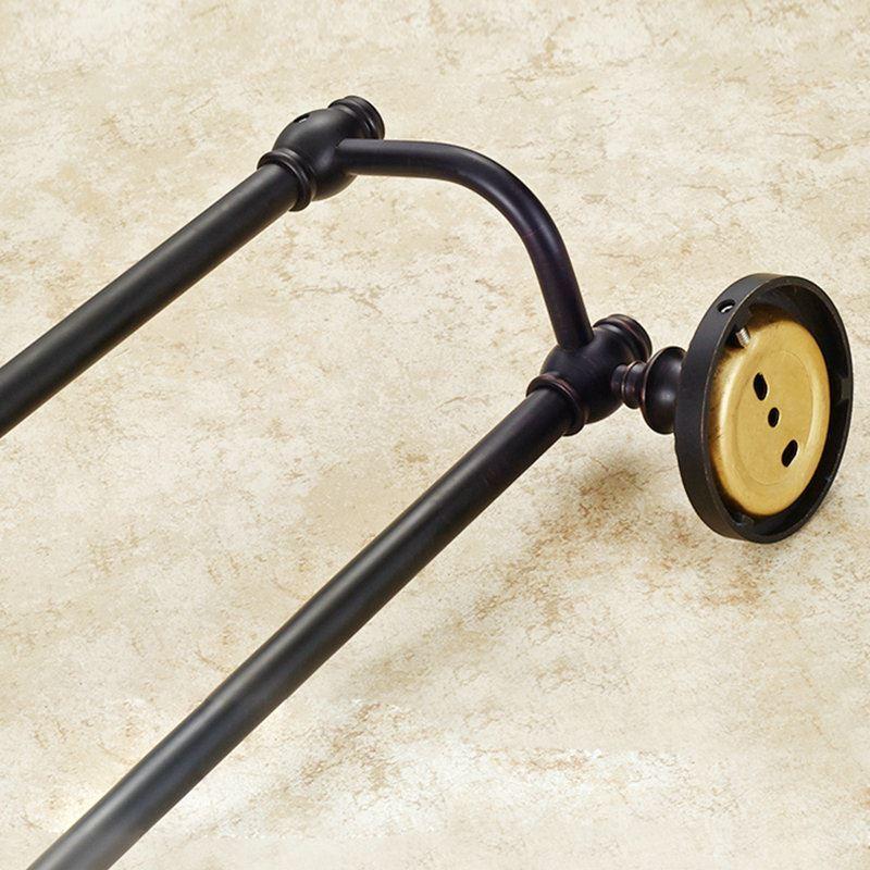 handtuchstange doppelt bad aus messing schwarz bad accessoires. Black Bedroom Furniture Sets. Home Design Ideas