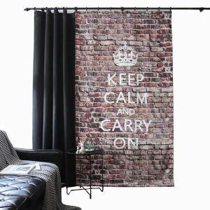 Moderner Vorhang Ziegelstein Design Braun im Wohnzimmer