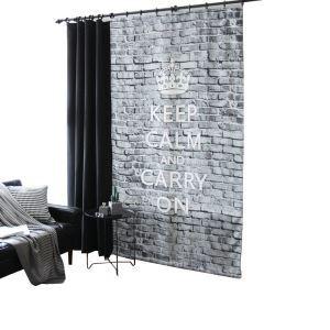 Moderner Vorhang Ziegelstein Design Grau im Wohnzimmer