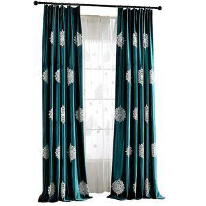 Luxus Flanell Vorhang Grüne im Arbeitszimmer