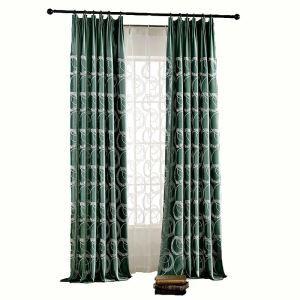 Moderner Minimalismus Vorhang Grüne Flanell im Schlafzimmer