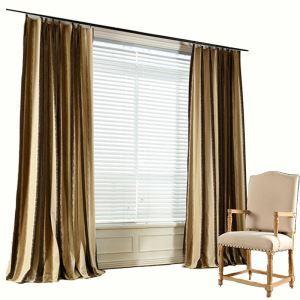 Moderner Vorhang Minimalismus Streifen Jacquard Chenille im Schlafzimmer