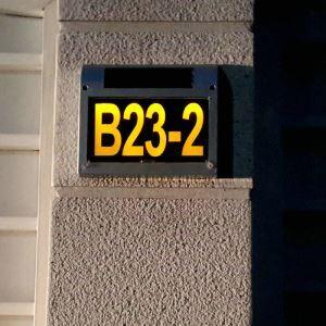Solar Türschilder Hausnummerleuchte