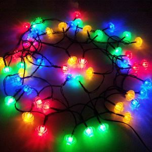 Mehrfarbig Lichterketten Außen Solar