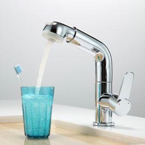 Chrom Ausziehbar Wasserhahn im Badezimmer