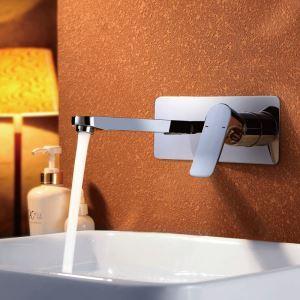 Chrom Wasserhahn Einhand Wandmontage Bad