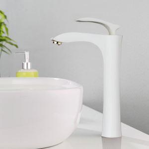 Moderne Waschtischarmatur Weiß Bad Einhand